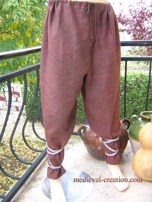 Pants Linen Gallic Braie Lin Gaulois Vikings