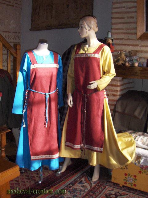 Costume Viking  Normande Lin Coton