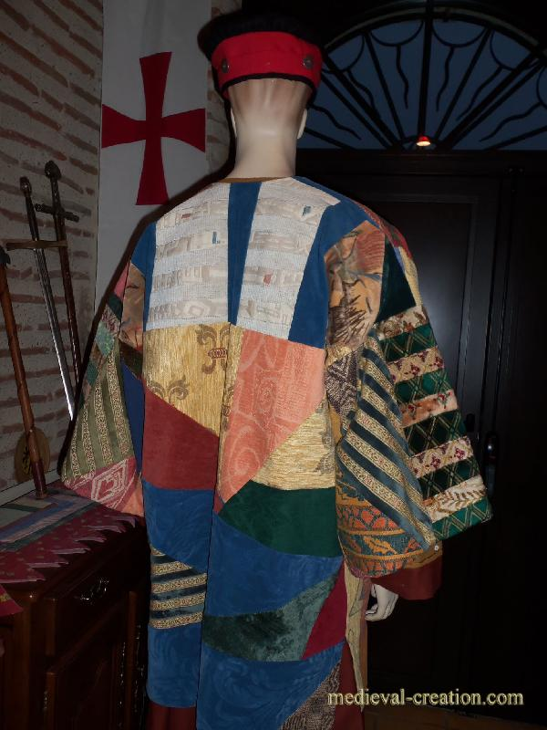 Caftan MIXTE en véritable Patchwork de Velours