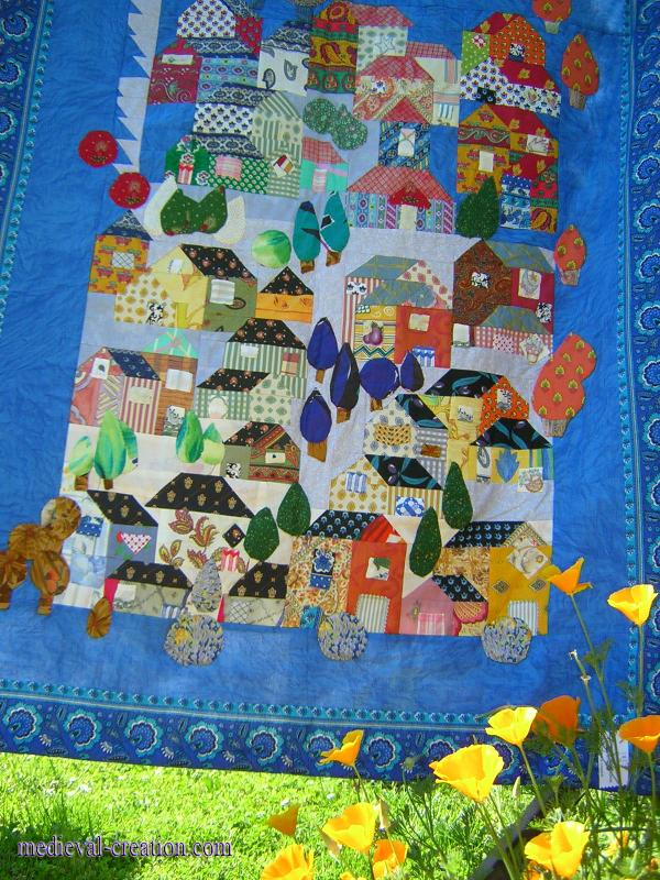 Village de France en Appliqué et Patchwork