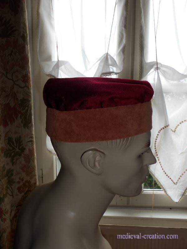 Medieval Headgear Velvet Toque Antique