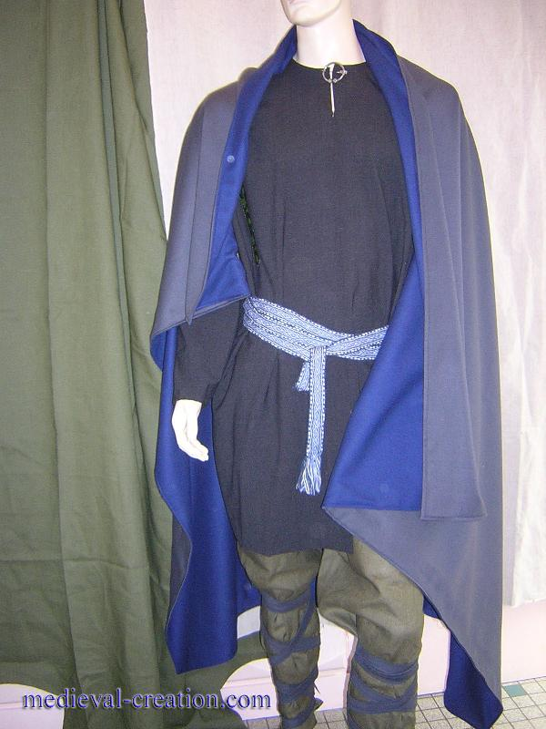 Wool Cloak Cape Chlamyde double Laine