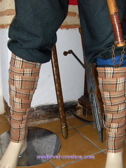 Tartan Winniger Puttees Bandes Molletières