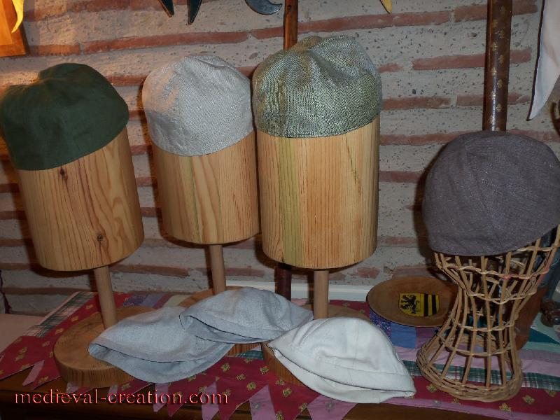 Linen Headgear Calot réversible simple en Lin