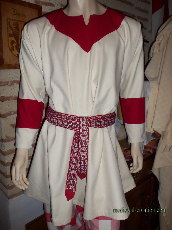 Viking Saxon Tunique XXL Bliaut Tirelaine