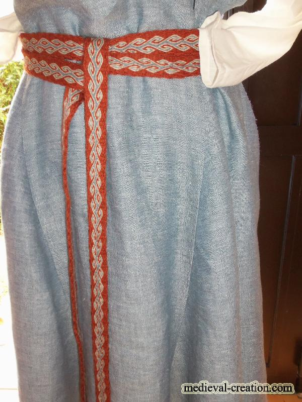 Viking Tablier XL LIN Apron linen herringbones